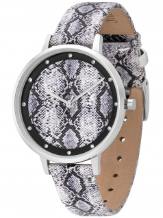 Julie Julsen JJW1203SL-P Safari Python Uhr Damenuhr Leder schwarz