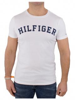 Tommy Hilfiger Herren T-Shirt Kurzarm SS Tee Logo UM0UM00054 Weiß L