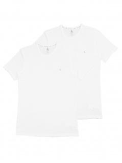 Calvin Klein Herren T-Shirt Kurzarm 2er Pack S/S Crew Neck Weiß M