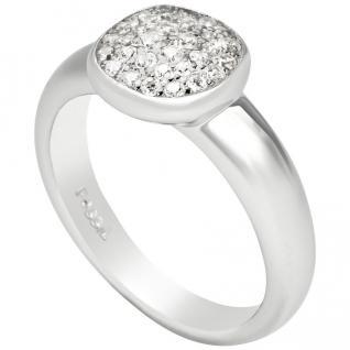 Fossil JFS00258 Damen Ring Silber Zirkonia Weiß 56 (17.8)