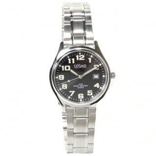 Cosmo 02063RMB-schwarz Uhr Herrenuhr Edelstahl Datum schwarz