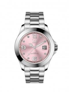 Ice-Watch 016776 ICE steel classic SR Stones Medium Uhr Datum Silber