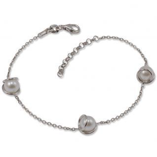 GOOIX 914-06145 Damen Armband Sterling-Silber 925 Silber Weiß 20 cm