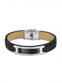 LOTUS LS1808-2/4 Herren Armband Edelstahl Silber Schwarz 23, 5 cm
