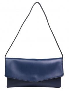 Esprit Damen Handtasche Clutch Fay Baguette Bag Blau