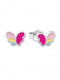 Prinzessin Lillifee 2020969 Ohrstecker Schmetterling Silber Pink