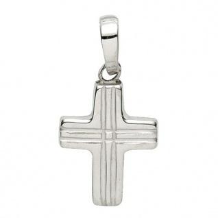 Basic Silber 27.9146S Damen Anhänger Kreuz Silber