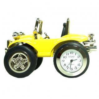 Cosmo 201315 Buggy gelb Uhr Tischuhr