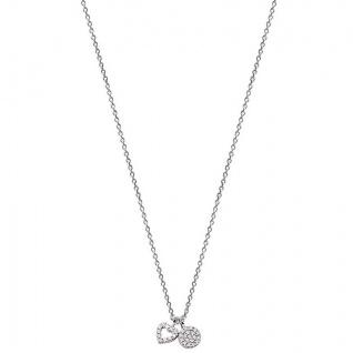 XENOX XS2922 Damen Collier Herz Happy Hour Silber weiß 45 cm
