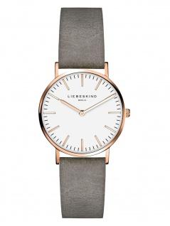LIEBESKIND LT-0089-LQ Uhr Damenuhr Lederarmband Grau