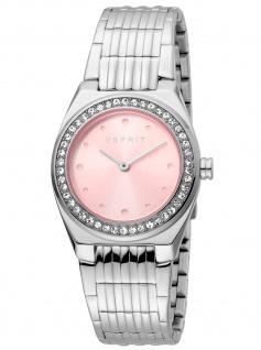 Esprit ES1L148M0055 Spot Pink MB Uhr Damenuhr Edelstahl silber