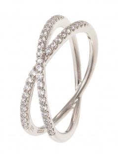 gooix 943-06735-520 Damen Ring Sterling-Silber Silber weiß 52 (16.6)