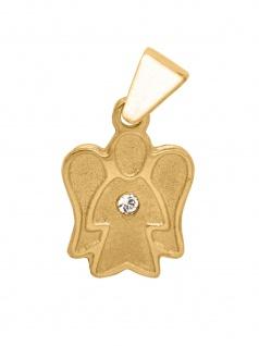 Basic Gold 10460 Kinder Anhänger Engel 14 Karat (585) Gold Weiß
