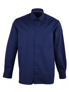 Eterna Herren Hemd Langarm Comfort Fit 3072/19/E18E Blau XL/43