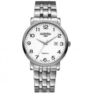 ROAMER 709856 SM1 Classic Line Uhr Herrenuhr Edelstahl Datum silber