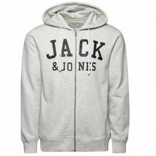 Jack & Jones Sweatjacke Herren 12086036 TRIS Sweat Zip Hood Grau S