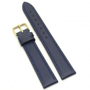 Condor Uhrenband 13860-16-50 Ersatzarmband 16 mm Kalbnappa blau