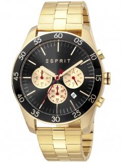 Esprit ES1G204M0095 Jordan Gold Black Uhr Herrenuhr Chrono Datum gold