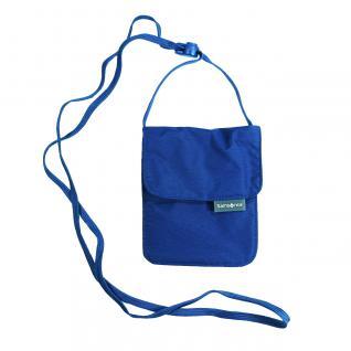 Samsonite 45548-1439 Triple Pocket Neck Pouch Blau Brustbeutel