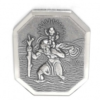 Basic Silber ALP06 Herren Autoplakette Heilger Christopherus