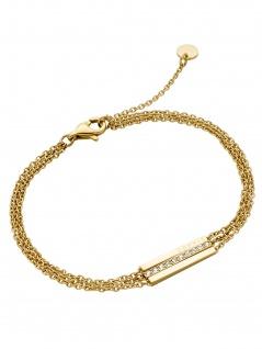 Esprit ESBR00182218 Damen Armband Luna Edelstahl Gold Weiß 21 cm