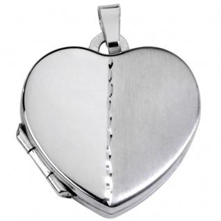 Basic Silber SL05 Damen Anhänger Herz Medaillon Silber
