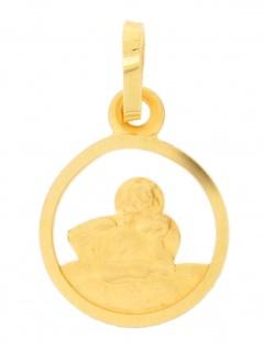 Gerry Eder 22.0078 Anhänger Schutzengel 14 Karat (585) Gelbgold Gold