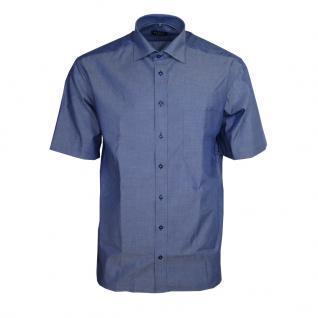 Eterna Herrenhemd Kurzarm Comfort Fit Blau gemustert Hemd XXL/45