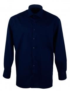 Eterna Herren Hemd Langarm Comfort Fit XL/44 Blau 1303/19/E37R