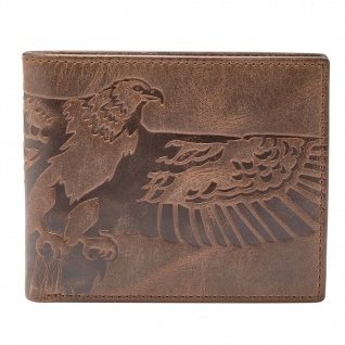 Fossil Geldbörse EAGLE bifold Braun Adler ML3962-200 Herren Geldbeutel
