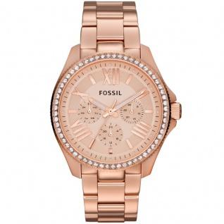 Fossil AM4483 CECILE Uhr Damenuhr Edelstahl Datum rosé