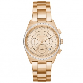 Michael Kors MK6421 Chronograph Uhr Damenuhr Chrono Datum Gold