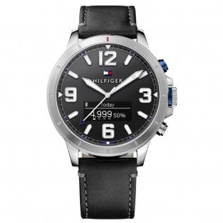 Tommy Hilfiger 1791298 SMARTWATCH Uhr Herrenuhr Lederarmband Schwarz