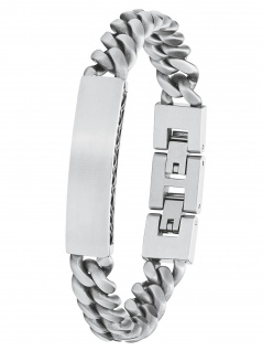 s.Oliver 2027424 Herren Armband Edelstahl Silber 21, 5 cm
