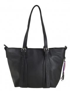 Esprit Damen Handtasche Tasche Henkeltasche Liz small shopper Schwarz
