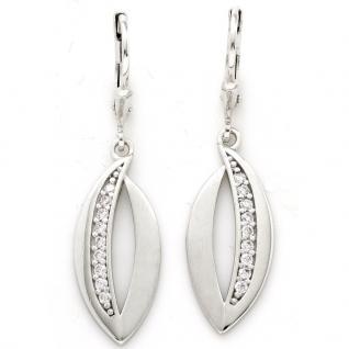 Basic Silber 02.1125 Damen Ohrringe Silber Zirkonia weiß