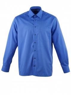 Eterna Herren Hemd Langarm Comfort Fit 3070/16/E18E Blau XL/44