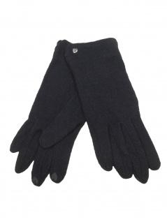 Esprit Damen Handschuhe Touchscreen Felted Gloves M Schwarz 099EA1R001