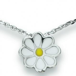 Basic Silber 21.KS109 Mädchen Collier Blume Silber 36 cm gelb weiß