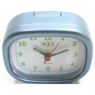 W&S 600105 Wecker Uhr blau-weiß Analog Licht Alarm - Vorschau 2