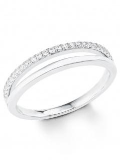 s.Oliver 2022727 Damen Ring Sterling-Silber 925 Silber Weiß 56 (17.8)