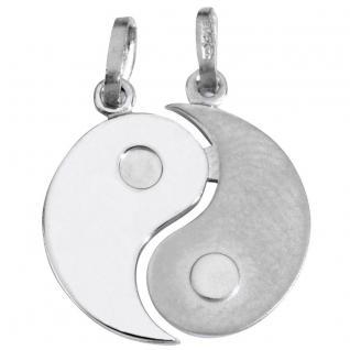 Basic Silber SL08 Anhänger Partneranhänger Yin Yang Silber