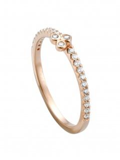 Esprit ESRG00531217 Damen Ring Play Rose Weiß 53 (16.9)