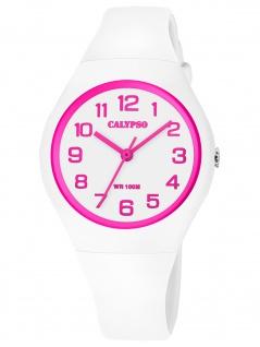 Calypso K5777/5 Uhr Mädchen Kinderuhr Kunststoff weiß