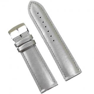 Condor Uhrenband 19189-24-51 Ersatzarmband 24 mm Rindleder silber