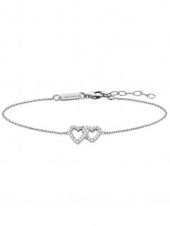 Julie Julsen JJBR0264.1 Damen Armband Herz Sterling-Silber 925 19 cm