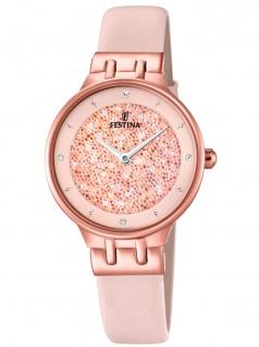 FESTINA F20406/2 Uhr Damenuhr Lederarmband Rosa