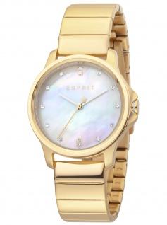 Esprit ES1L142M1055 Bow Mop White Gold Uhr Damenuhr Edelstahl gold