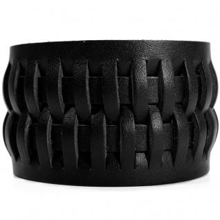 CJBB1926 Herren Armband Leder schwarz 21, 5 cm