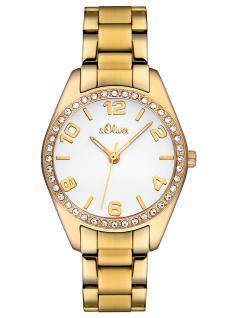 s.Oliver SO-2280-MQ Uhr Damenuhr Edelstahl Gold